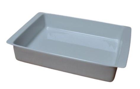Mísa 32x20x6,5cm, 2.jak., hran.zapék., bílá, čes.porcelán