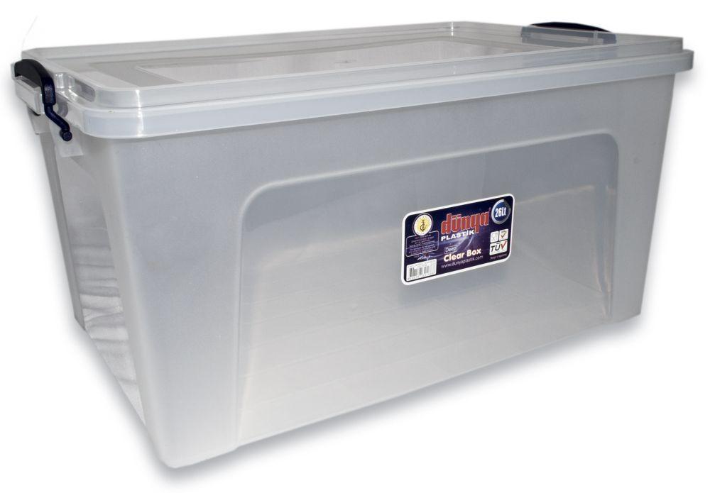 Box 27,0l CLEAR 46x32x23cm, plast