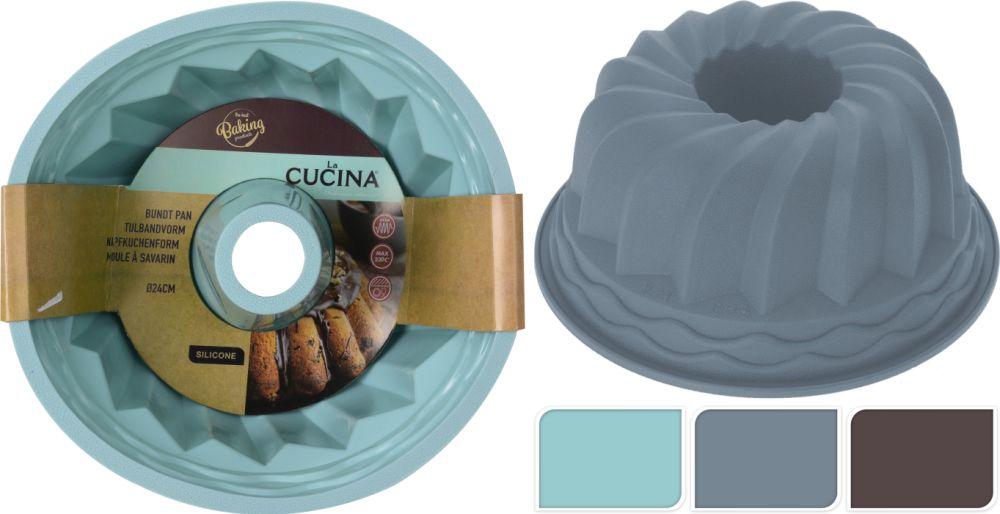 Bábovka d24cm,krémová, ALEGRIA, silikon