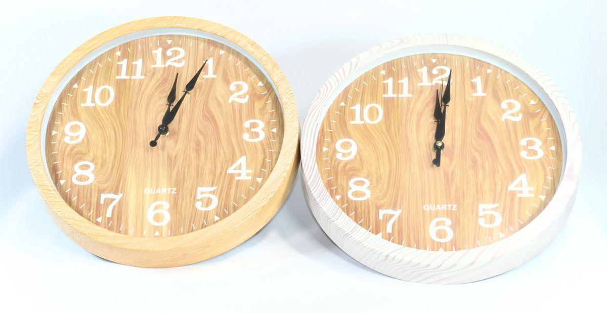 Hodiny d35cm, im.dřevo, nástěnné (1ks)