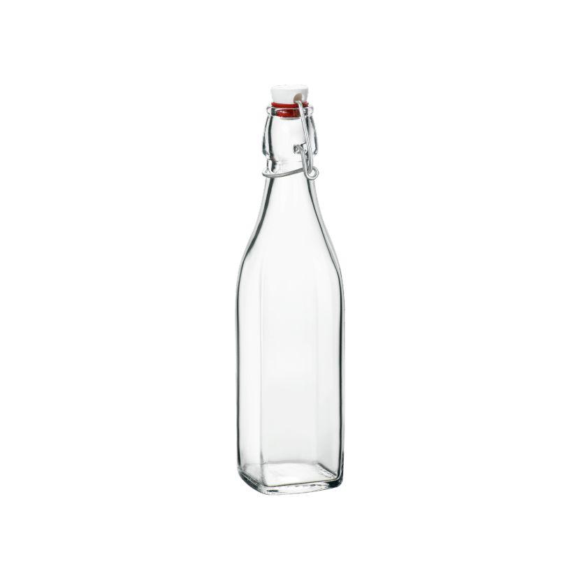 Láhev 0,50l hranatá SWING, patent.uzávěr, sklo