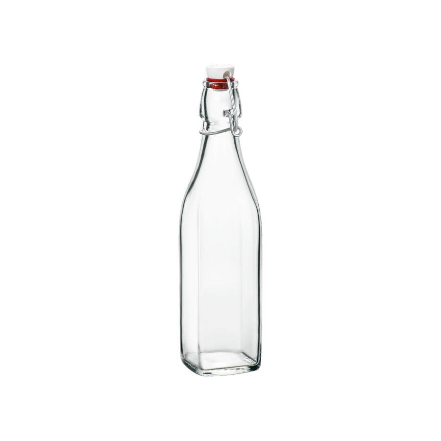 Láhev 1,00l hran.SWING, patent.uzávěr, sklo