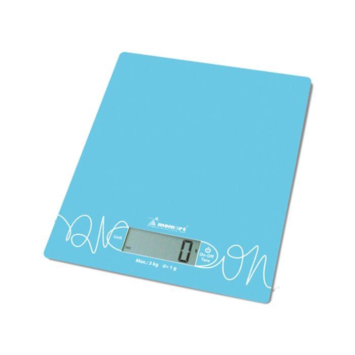 Váha  5kg kuch.dig., 6854-modrá, sklo