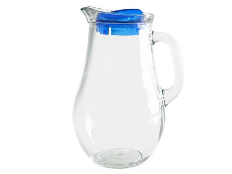 Džbán 1,85l BISTRO sklo+víko plast