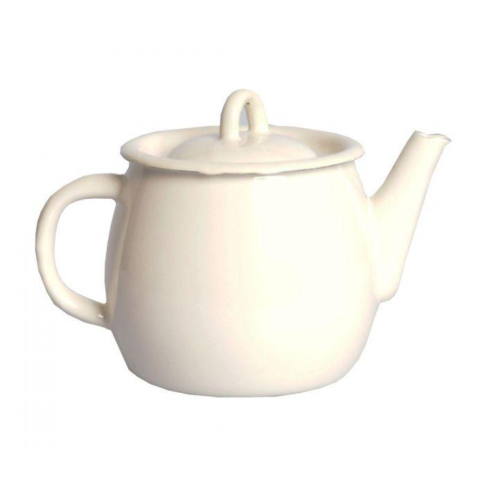 čajník 1,0l+pokl.154/05 milk-sv.béžový smalt