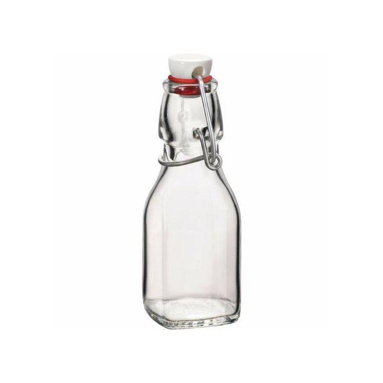Láhev 0,125l hranatá SWING, patent.uz., sklo