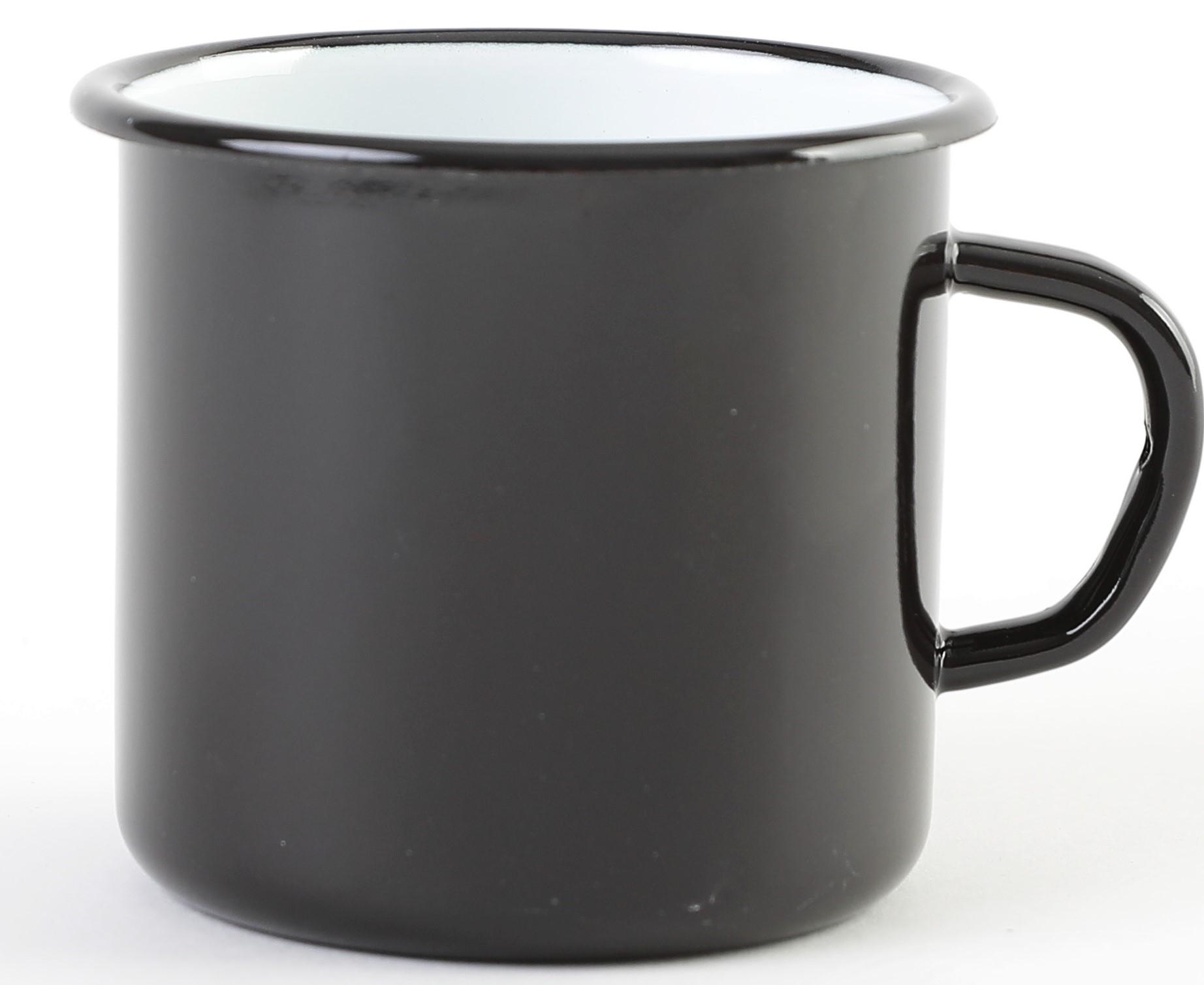 Hrnek d 8 (0,4l) černý, smalt