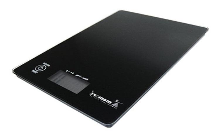 Váha  5kg kuch.dig., 6841, st.1g, černá, sklo
