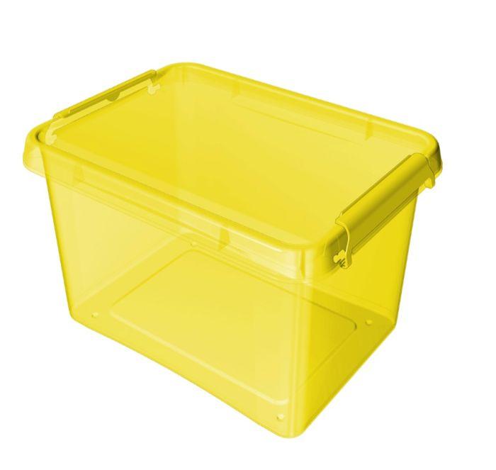 Box 12,5 l 39x29x16,5cm, žlutý tr.plast