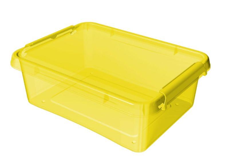 Box  8,5l 39x29x11cm,žlutý tr.plast