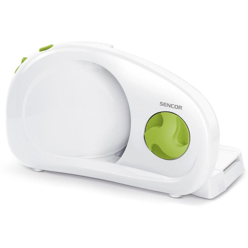 Kráječ na chléb/potraviny elektr.bílý+zelený knoflík