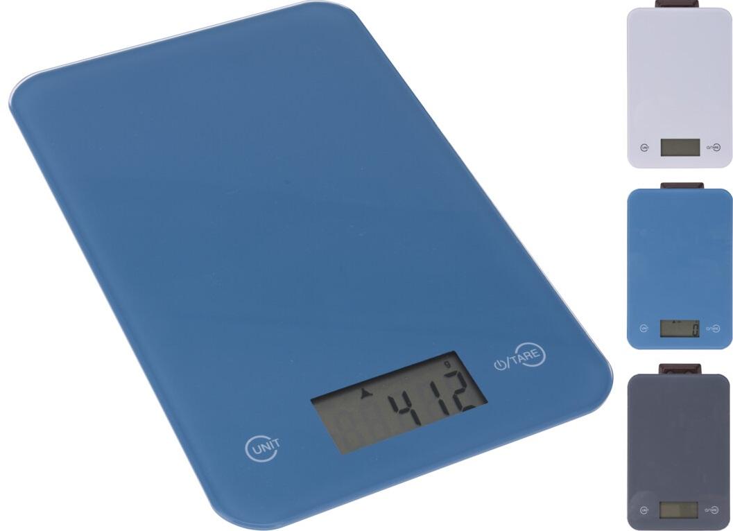 Váha  5kg kuch.dig., 15x21cm, mix barev, sklo