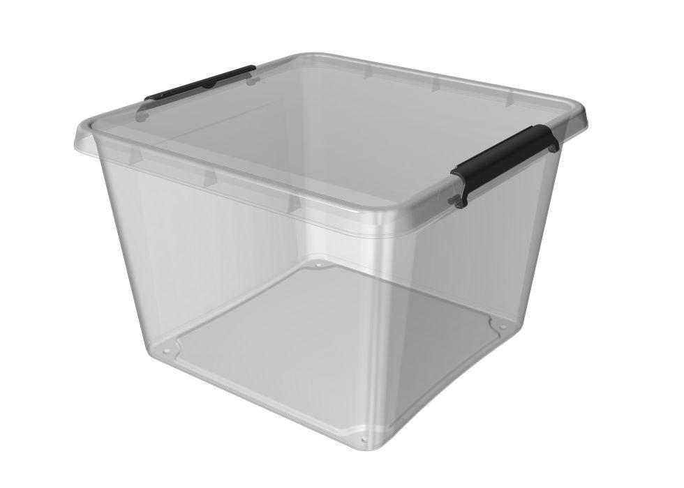 Box 32,0l 39x39x26cm,transp.plast