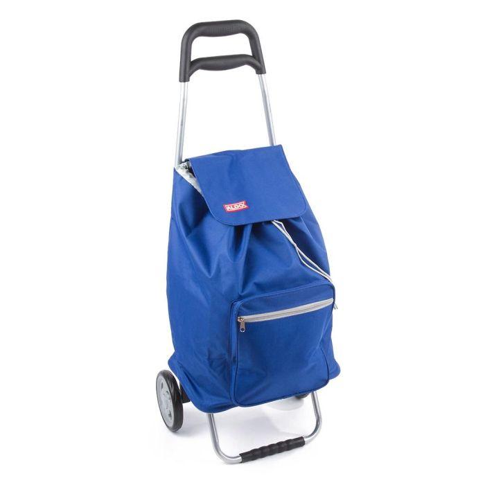Taška s kol. 45l, CARGO ALDO (30kg), modrá/černá, kov.rám