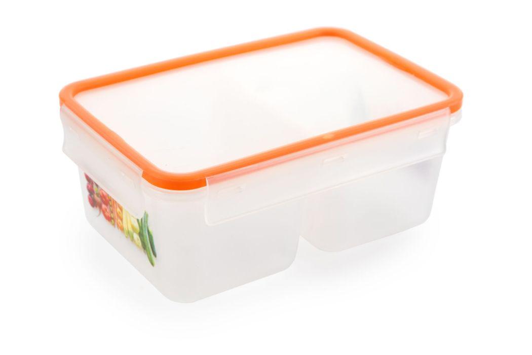 Box  1,0l dvoudílný MEGA oranž., 18,9x12,8x7,9cm