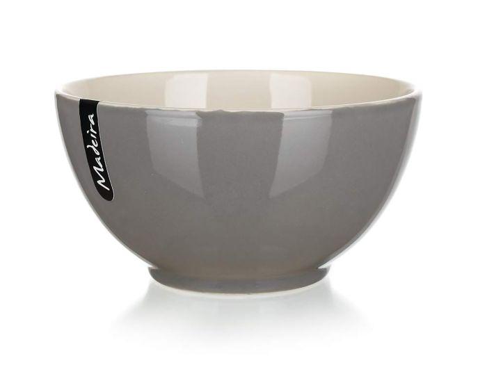 Miska d14,5cm MADEIRA šedá/natural, keramika