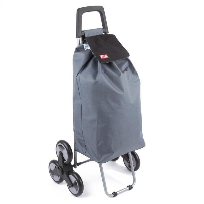 Taška s kol. 50l, MADRID ALDO (25kg), šedá/fial.,schody, kov.rám