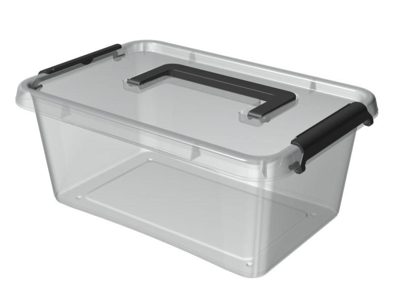 Box  4,5 l 29x20x12cm,rukojeť,transp.plast