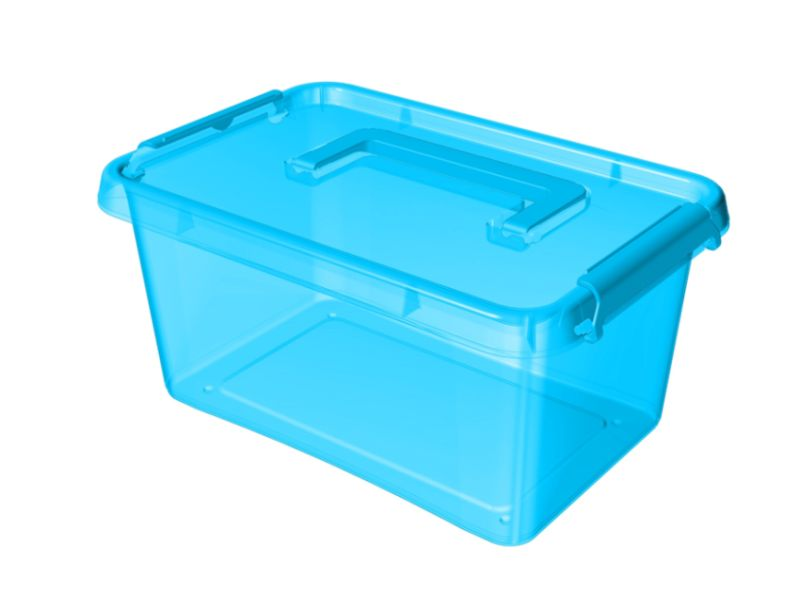 Box  4,5 l 29x20x12cm,rukojeť,modrý tr.plast
