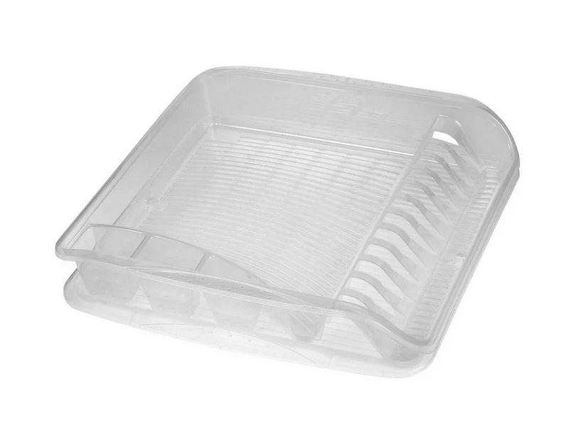 Odkapávač 39,5x39,5x8cm,transp.,na nádobí,plast