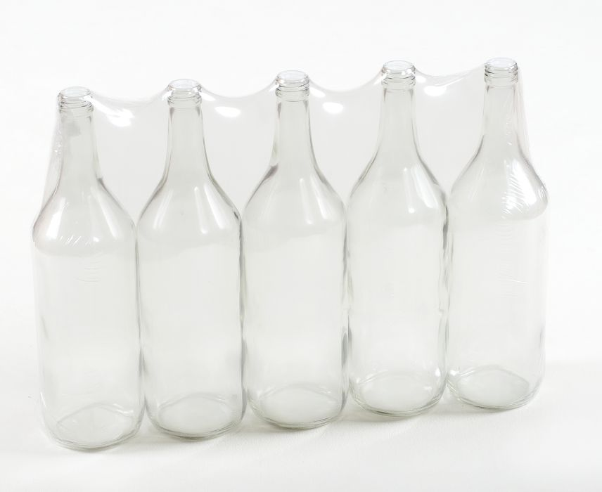Láhev 1,0l LIEH (SPIRIT), šroubení, sklo (5ks)