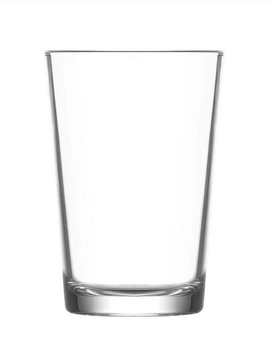 Sklen. 205ml, 6ks, LARA, d38x99mm,hladká, kónická, voda
