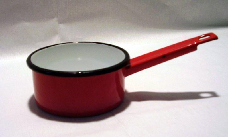 Rendlík d12x6cm s ruk., hluboký, smalt, mix barev