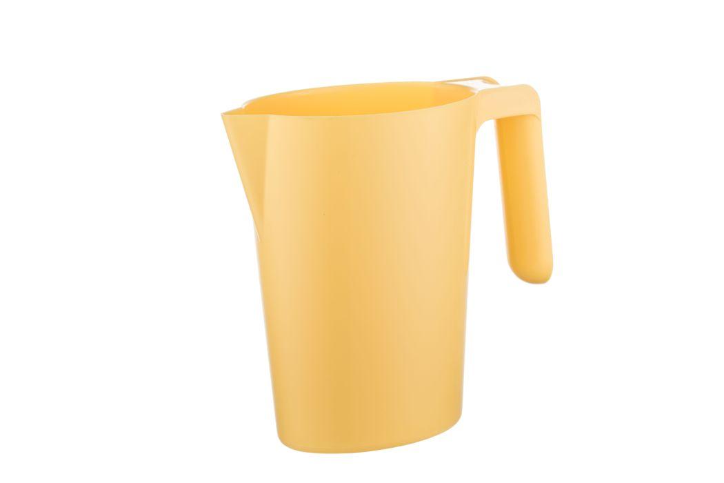 Džbán 1,0l SANTI, žlutý, s výlevkou, plast