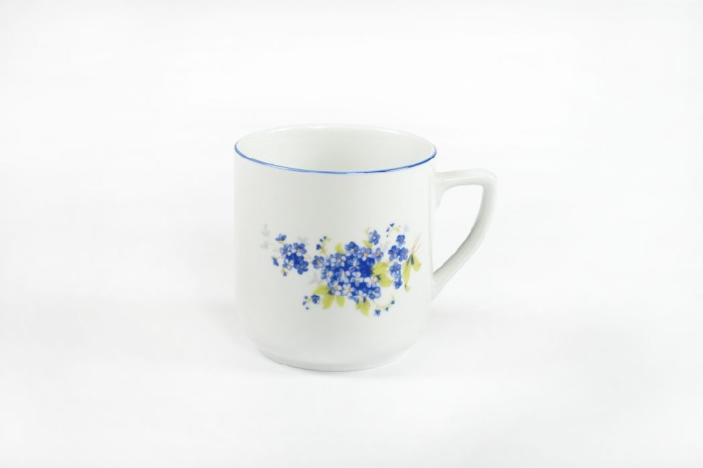 Hrnek 400ml PĚTKA-Pomněnky modré, čes.porcelán