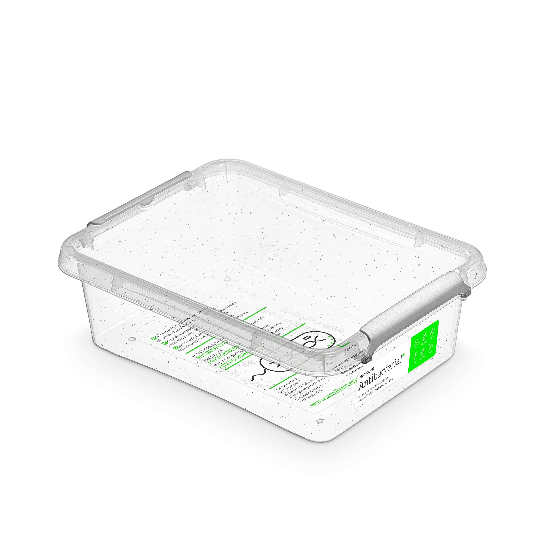 Antibakteriální box  1,15 l 19,5x15x6cm,transp.plast