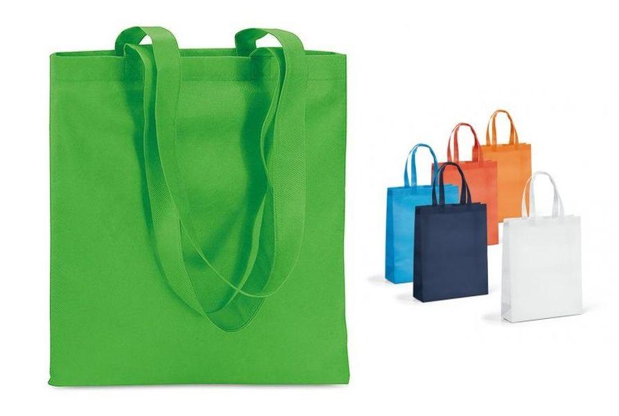 Taška nákup.  9l, 35x25x10cm (1ks), MIX barev, netk.textil