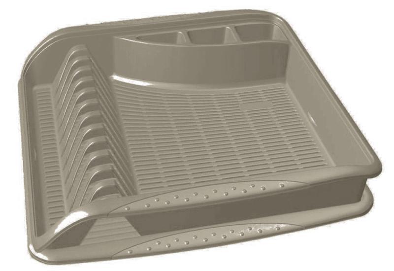 Odkapávač 39,5x39,5x8cm,šedý,na nádobí,plast