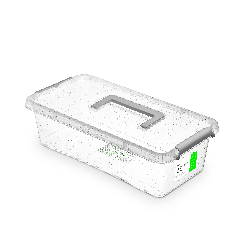 Antibakteriální box  6,0 l 40x20x11cm,rukojeť,transp.plast