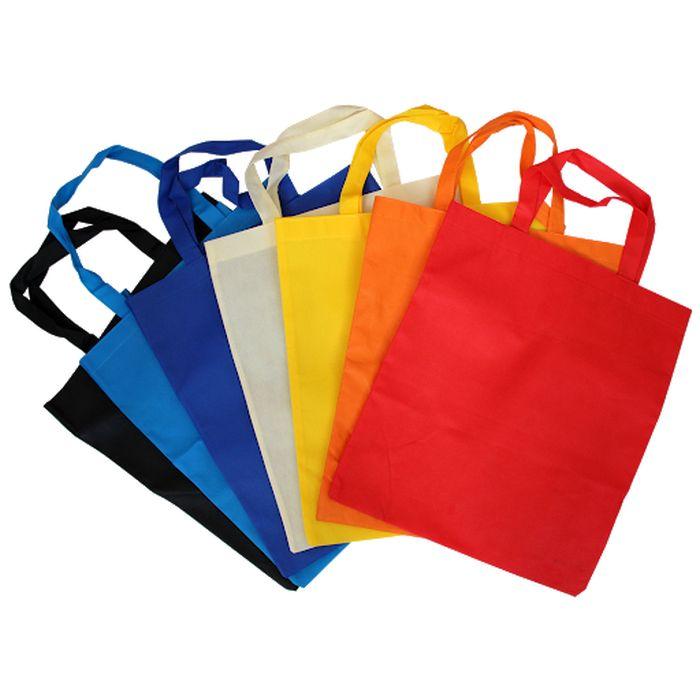 Taška nákup. 15l, 45x35x10cm (1ks), MIX barev, netk.textil