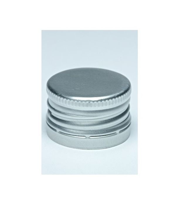 Zátka lahví SPIRIT, šroub.28x18, stříbrná (Al+korek) 1ks