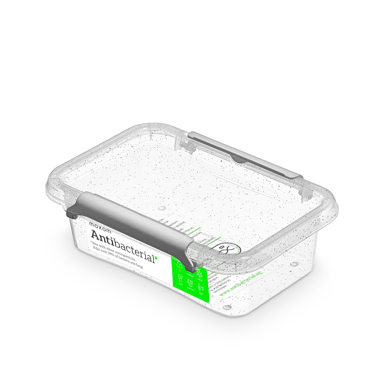 Antibakteriální box  0,35 l 15x9,5x4,5cm,transp.plast