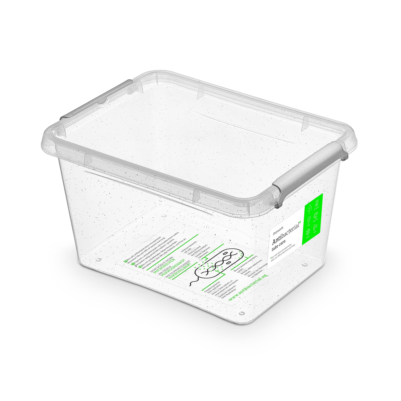 Antibakteriální box  2,0 l 19,5x15x11cm,transp.plast