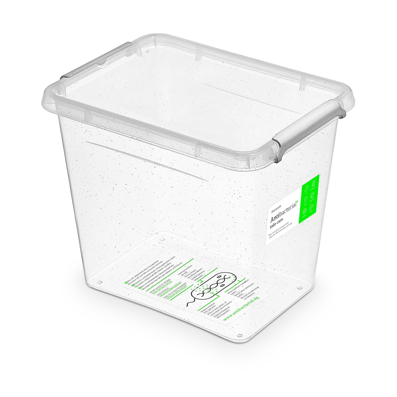 Antibakteriální box  3,0 l 19,5x15x16cm,transp.plast