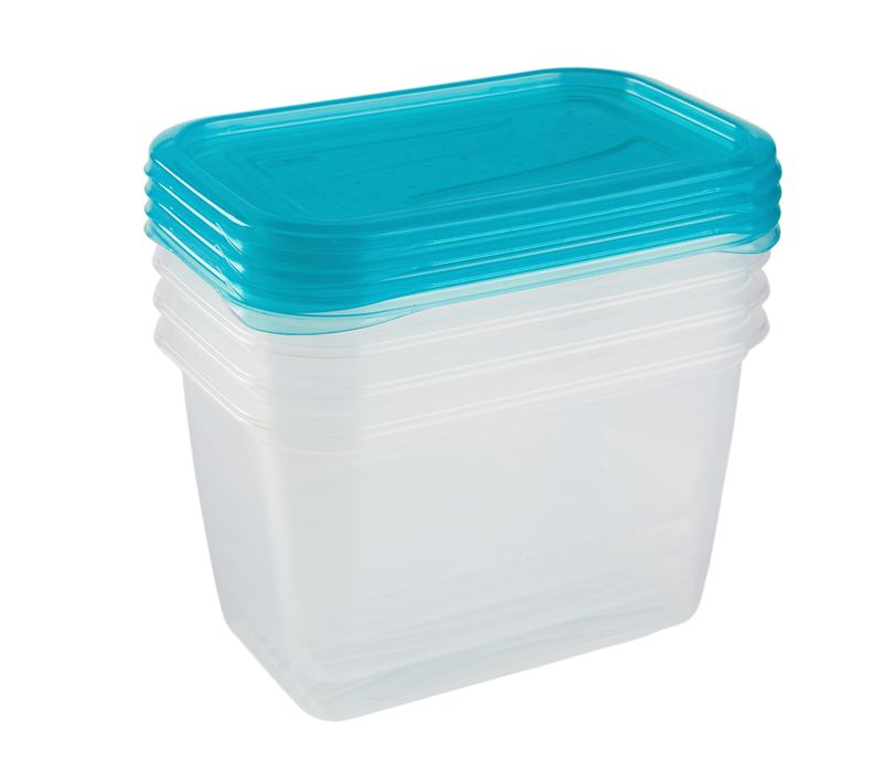 Box-sada 4ks, 0,75l FREDO, 15,5x10,5x8,5cm, plast