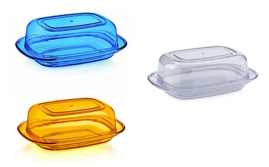 Máslenka transparentní plast (1ks)