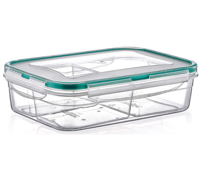 Box  1,0l FRESH dělený(2x0,25l+0,5l),klick 21x14,5x6cm,transp.plast