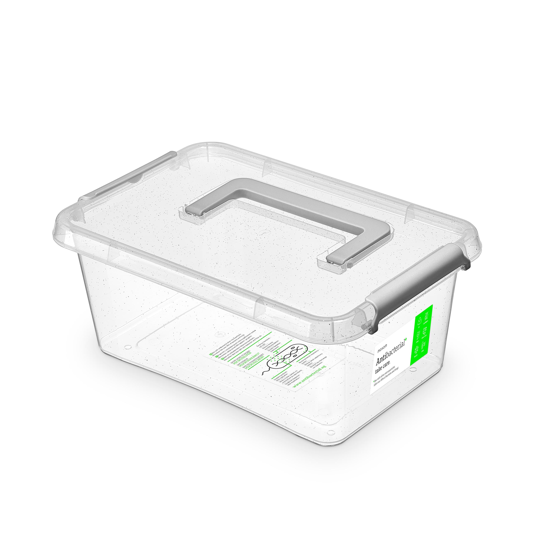 Antibakteriální box  4,5 l 29x20x12cm,rukojeť,transp.plast