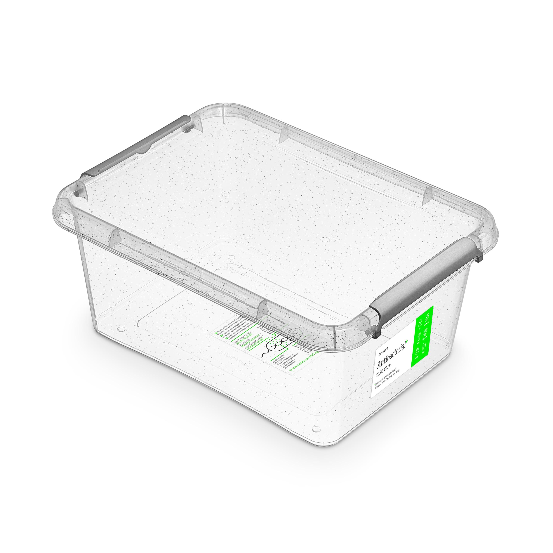 Antibakteriální box 12,5 l 39x29x16,5cm, transp.plast
