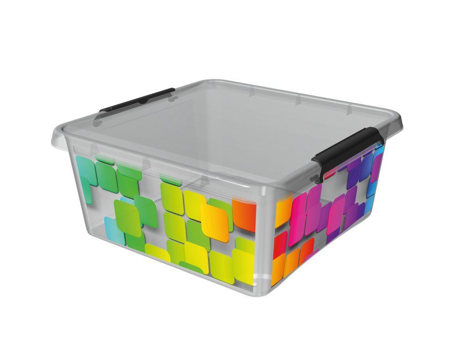 Box 18,0l 39x39x16,5cm,KOSTKY,děts. plast