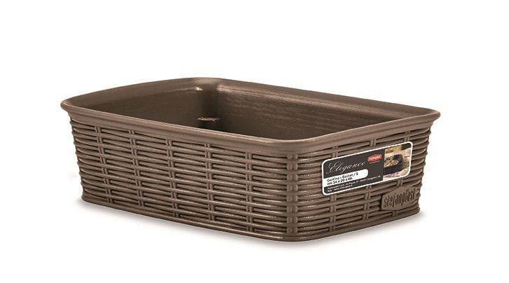 Košík 20x14x6cm,sv.hnědý ELEGANCE-S, im.ratan