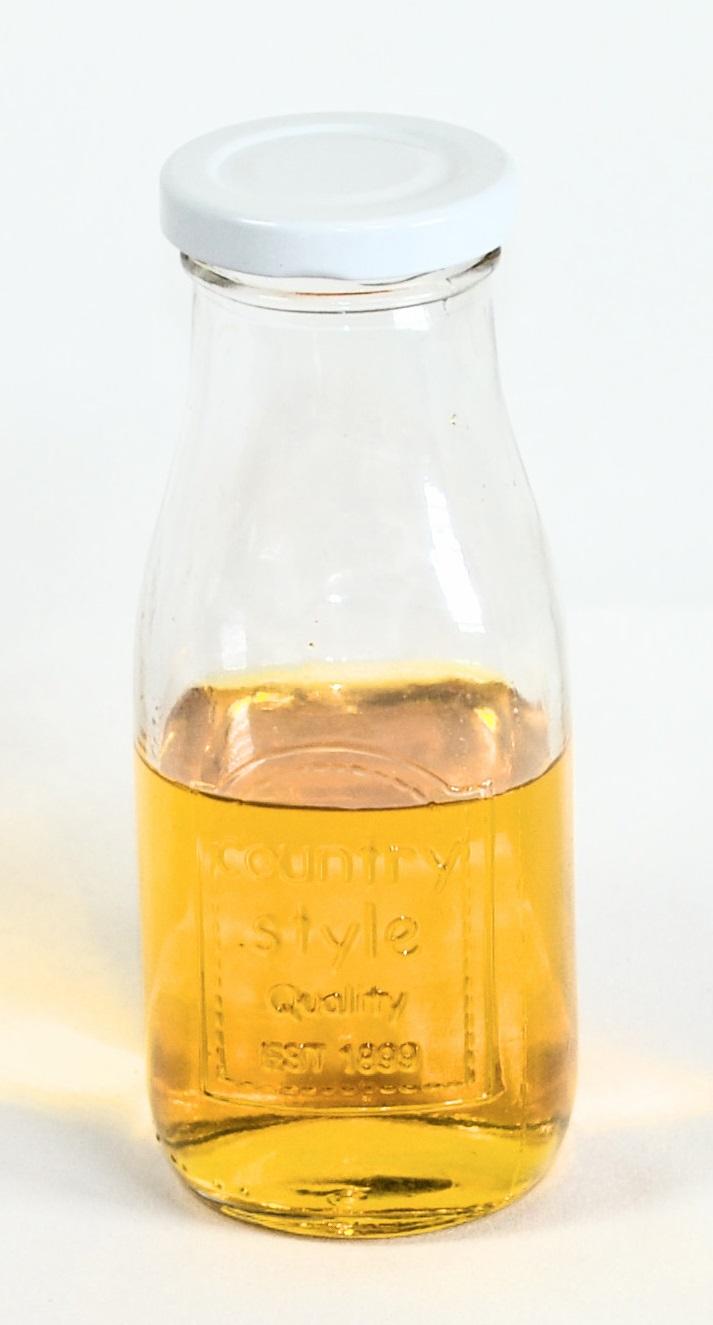 Láhev 0,3l sklo, šroub.potisk.uzávěr + brčko (1ks)