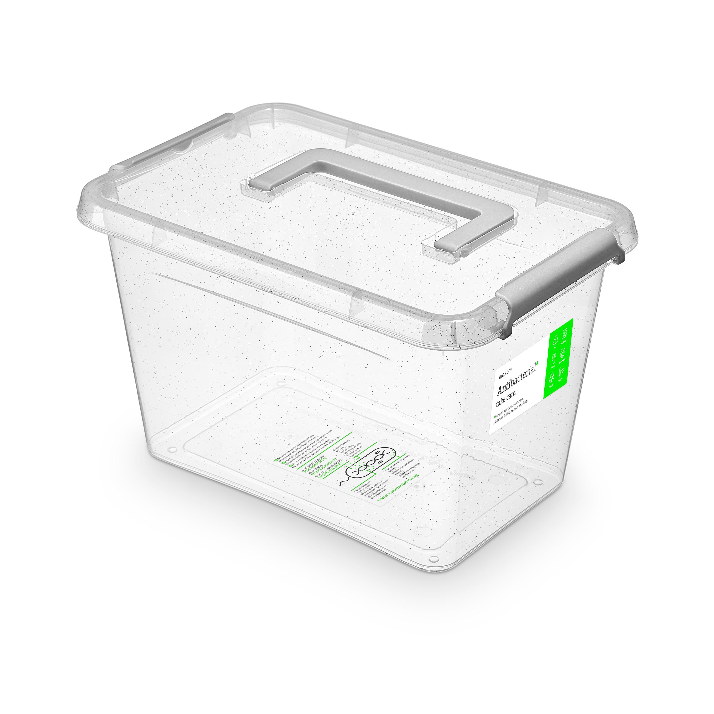 Antibakteriální box  6,5 l 29x20x18cm,rukojeť,transp.plast