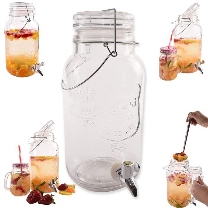 Láhev 3,5l sklo s kohoutem (1ks)