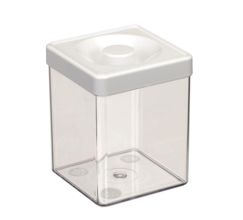 Dóza 0,25l  6,5x 6,5x 8,5cm, čtverc., plast
