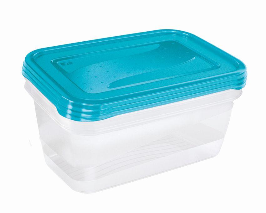 Box-sada 3ks, 1,25l FREDO, 20,5x15,5x6,5cm, plast